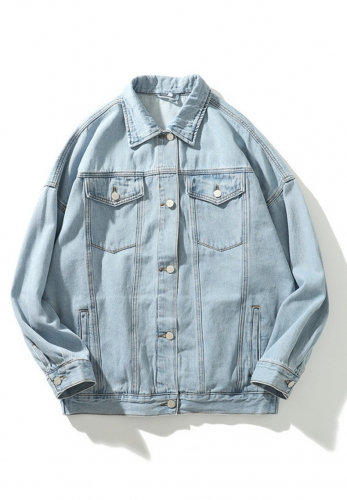 Vintage wash white denim jacket