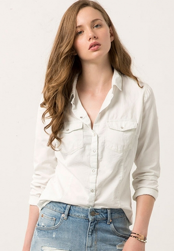 Thickened denim shirt