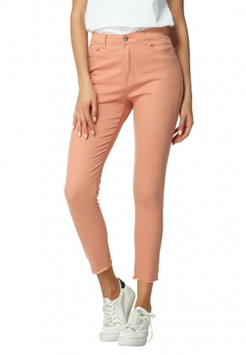 Washed stretch color jeans