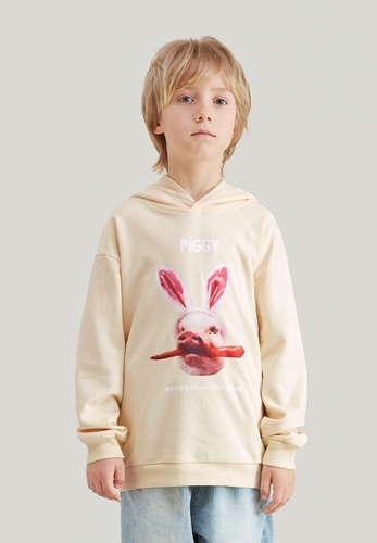 Spoof pig hooded sweater terry hoodie
