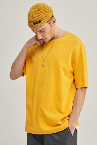 200G Oversize Drop Shoulder Air Spinning Organic T Shirt