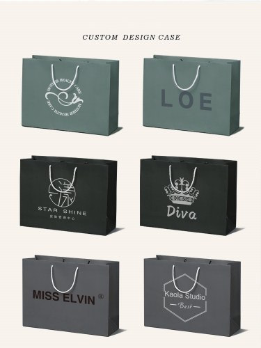 High end custom shopping paper bags clothing bags custom logo
