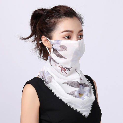 Printed silk scarf face mask fashion mask sunburn protection
