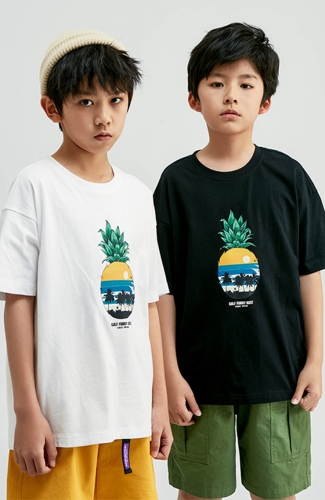 Pineapple Print Short-Sleeve T-shirt for Boy