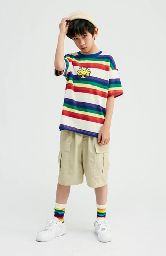 Boy Hit Pop Stripe Oversize T-shirt