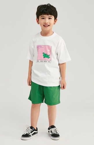Child Oversize Cartoon Print Short-sleeve T-Shirt