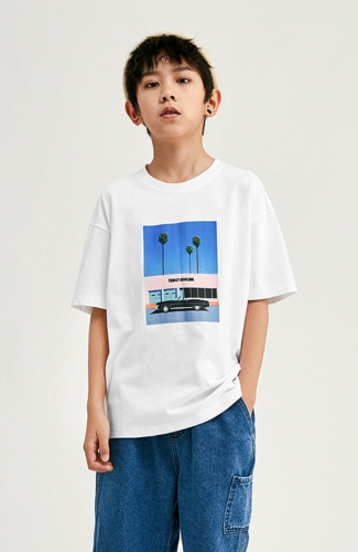 Summer Short-Sleeve Oversize T-shirt for Boy