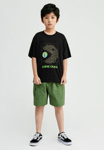 Boys short sleeve loose T-shirt