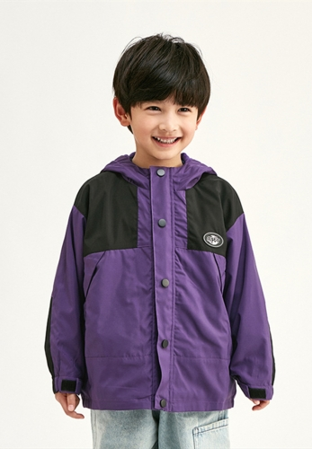 Contrast color stitching small standard windproof children's jackets