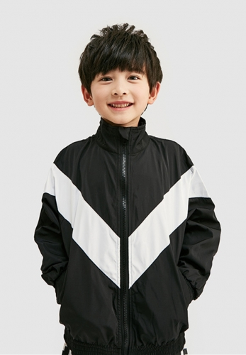 College style colorblock jacket windbreaker thin coat