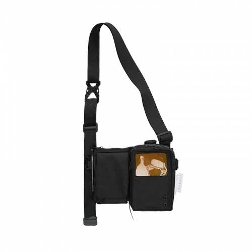 Cross body bag PVC joint style double bag