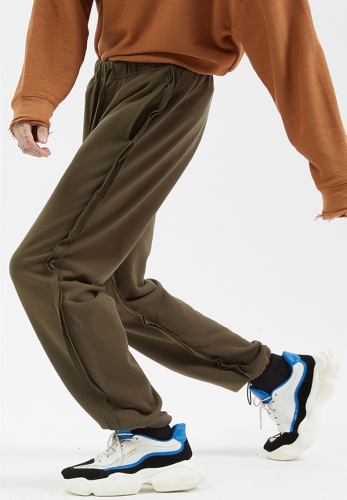 320GSM loop trans-splicing personality high waisted trackpants