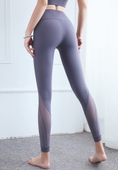 Fitness mesh legging yoga plants