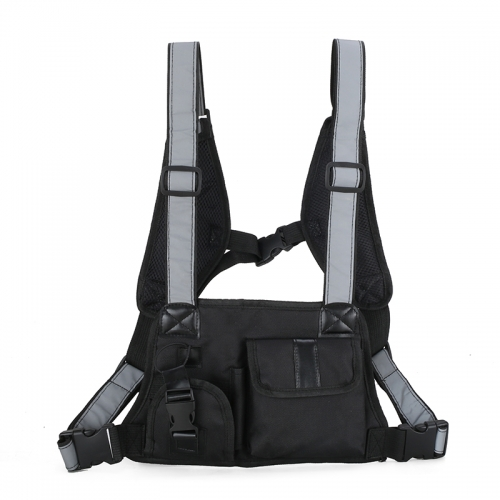 Chest rig bag reflective chest bag