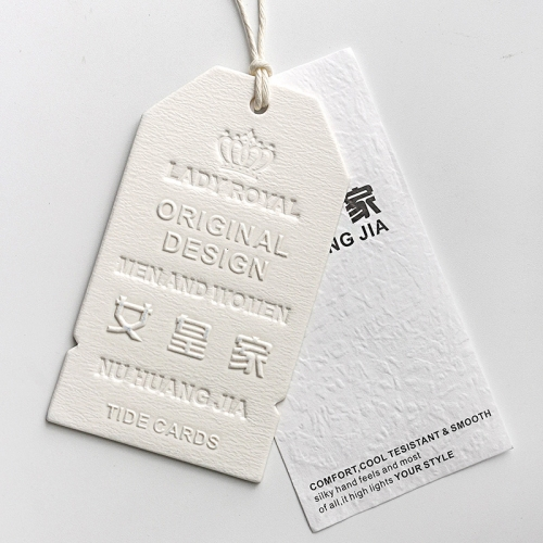 High quality thick clothing label tag
