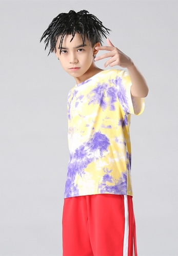Fashion colorful tie-dye kids' T-shirt