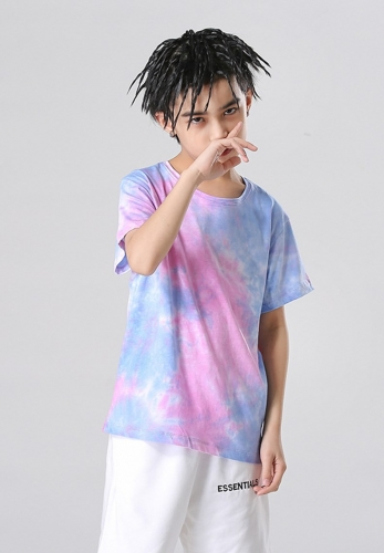 Fashion high street tie-dye kid's T-shirt