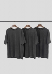 Heavy wash vintage basic style T-shirt