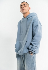 350G new fine cotton pure color hoodie