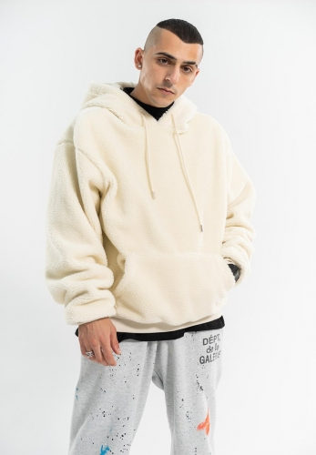 2020 Winter new sherpa thick fleece hoodie