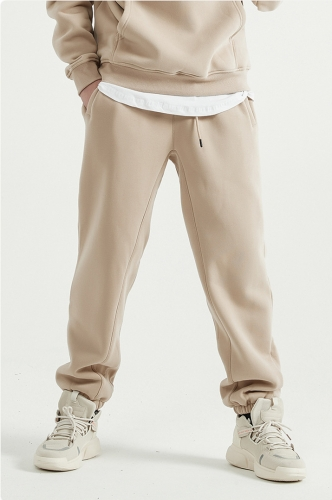 Retro drawstring solid color trousers