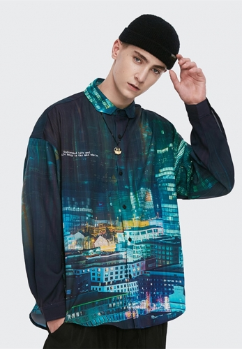Street magic urban city loose shirt