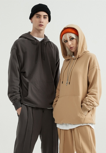 360g terry falling shoulder oversize hoodie