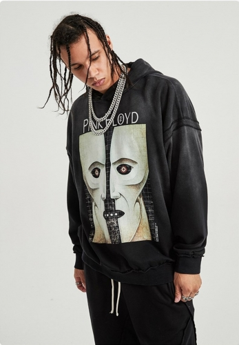 Retro high street fashion hoodie