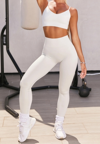 2020 New yoga suit vest pants breathable fitness exercise yoga suit set