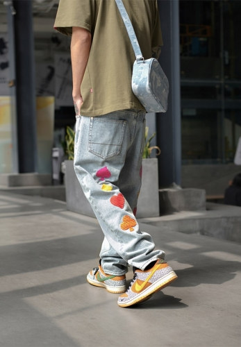 straight nine-point casual long jeans pants