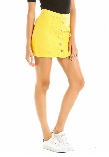 Yellow looks thin skirt