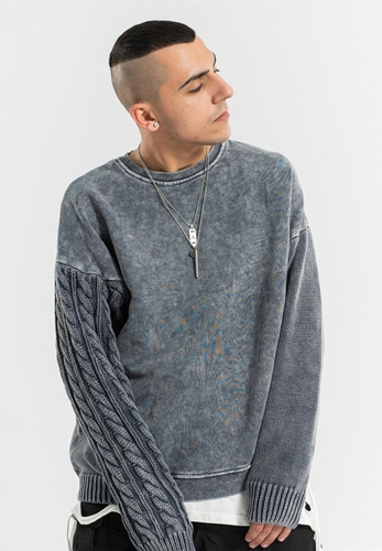 Round neck loose hoodie sweater
