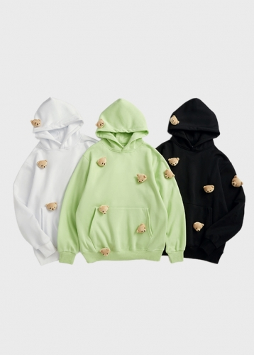 2020 Multiple little bear man fleece hoodie air  series hoodie