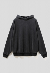 2020 drop shoulder coat vintage high street popular logo hoodie
